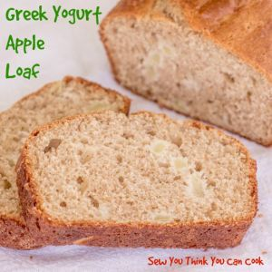 Greek Yogurt Apple Loaf for #BloggerCLUE from Sew You Think You Can Cook