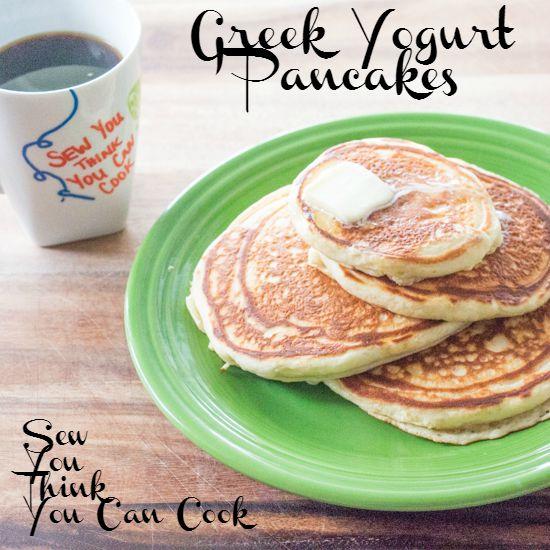 Greek Yogurt Pancakes | Sew You Think You Can Cook