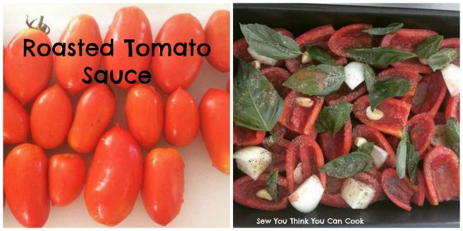 Roasted Tomato Sauce (before) | Sew You Think You Can Cook