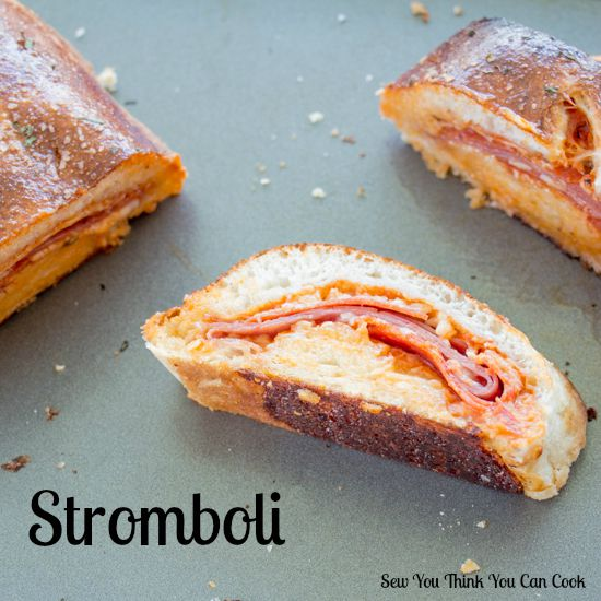 Stromboli for Secret Recipe Club from Sew You Think You Can Cook
