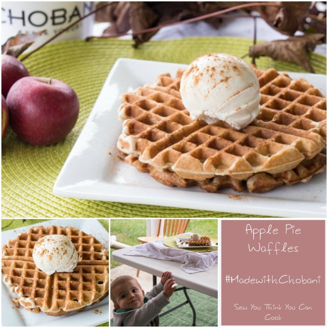 Apple Pie Waffles (2) for #MadewithChobani from Sew You Think You Can Cook