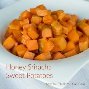 Honey Sriracha Sweet Potatoes for #BloggerCLUE from Sew You Think You Can Cook