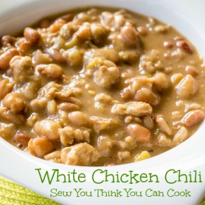 White Chicken Chili for Secret Recipe Club from Sew You Think You Can Cook