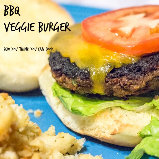 BBQ Veggie Burger for Crazy Ingredient Challenge from Sew You Think You Can Cook