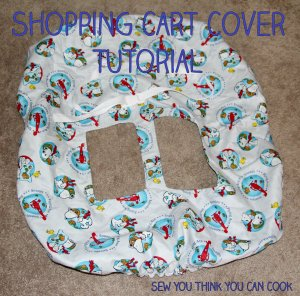 Shopping Cart Cover Tutorial | Sew You Think You Can Cook