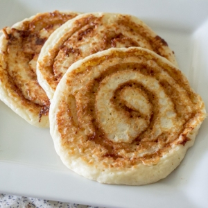 cinnamon roll pancakes - sew you think you can cook