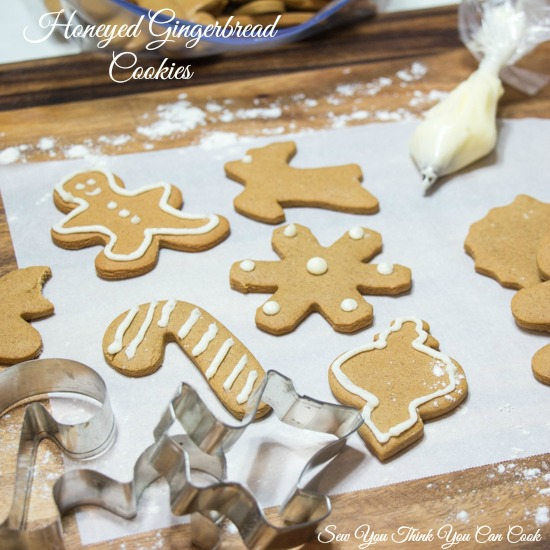 Honeyed Gingerbread Cookies for #handcraftededibles from Sew You Think You Can Cook