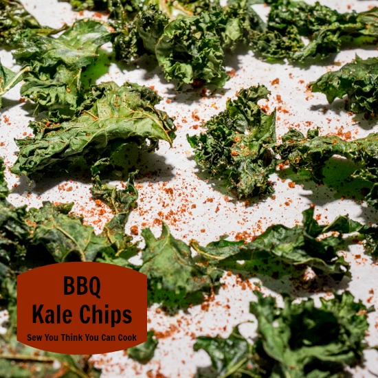 BBQ Kale Chips | Sew You Think You Can Cook