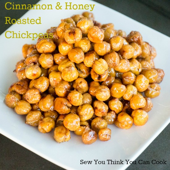 Cinnamon and Honey Roasted Chickepeas for Crazy Ingredient Challenge from Sew You Think You Can Cook