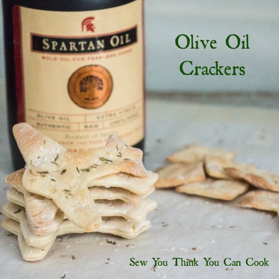 Olive Oil Crackers for the #EVOOChallenge from Sew You Think You Can Cook