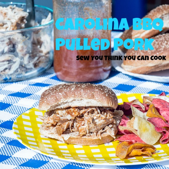 Carolina BBQ Pulled Pork for Secret Recipe Club from Sew You Think You Can Cook
