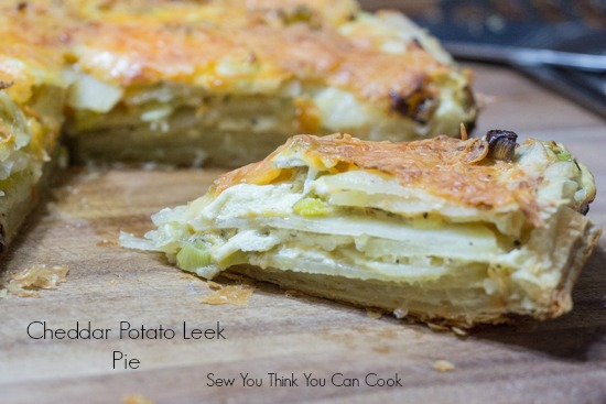 cheddar potato leek pie for #FoodieExtravaganza from Sew You Think You Can Cook
