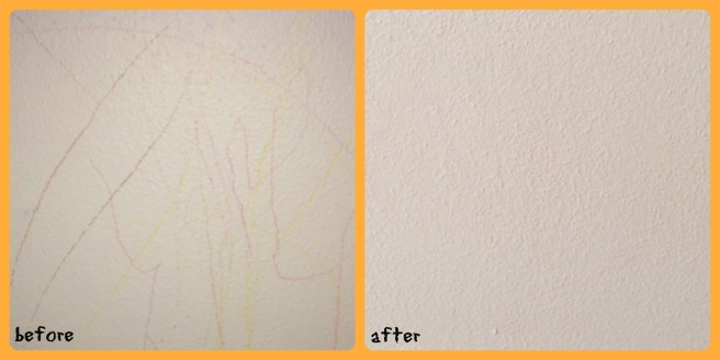 How to Remove Colored Pencil from the Wall (2)  Sew You Think You Can Cook