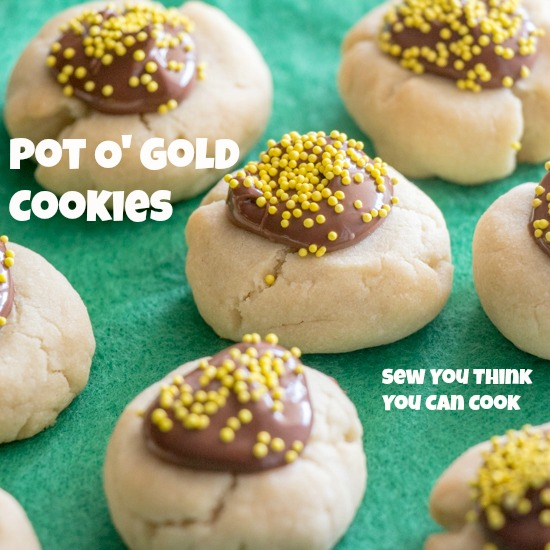 Pot O' Gold Cookies for Secret Recipe Club from Sew You Think You Can Cook