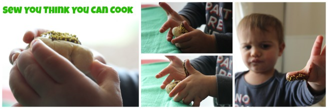 Pot O' Gold Cookies, not yet set  Sew You Think You Can Cook