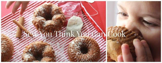 Sweet Cinnamon Spice Tea Bundtlettes (1) for #BundtBakers from Sew You Think You Can Cook