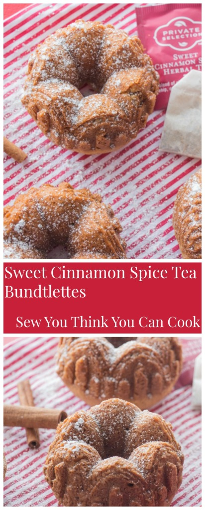 Sweet Cinnamon Spice Tea Bundtlettes (2) for #BundtBakers from Sew You Think You Can Cook