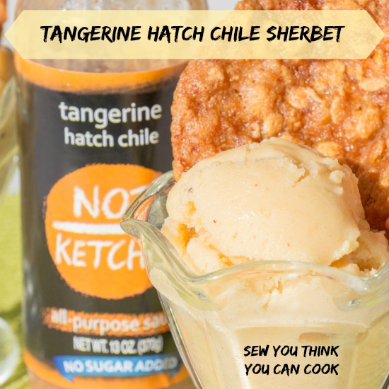Tangerine Hatch Chile Sherbet for #FreshTastyValentines from Sew You Think You Can Cook