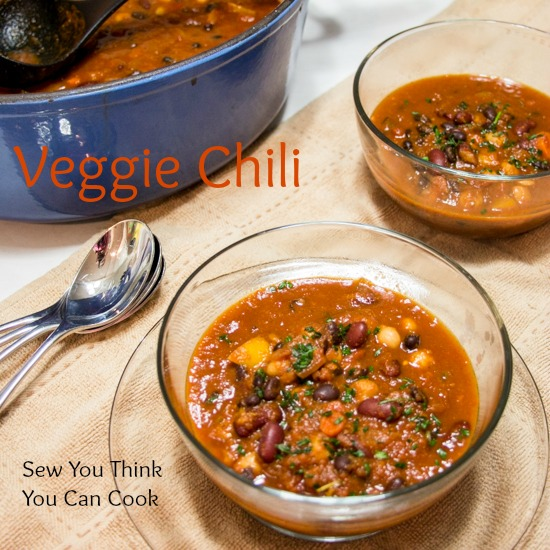Veggi chili for Blogger CLUE from Sew You Think You Can Cook