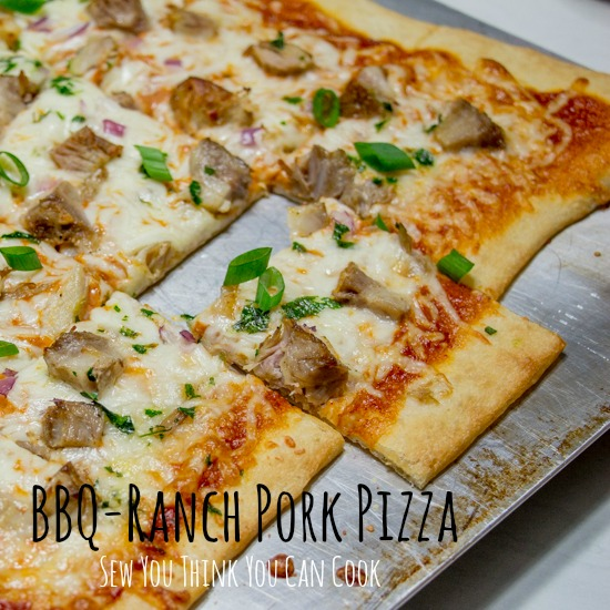 BBQ-Ranch Pork Pizza  Sew You Think You Can Cook