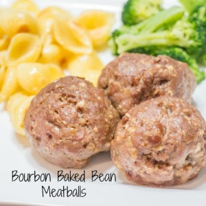 Bourbon Baked Bean Meatballs for #SundaySupper from Sew You Think You Can Cook