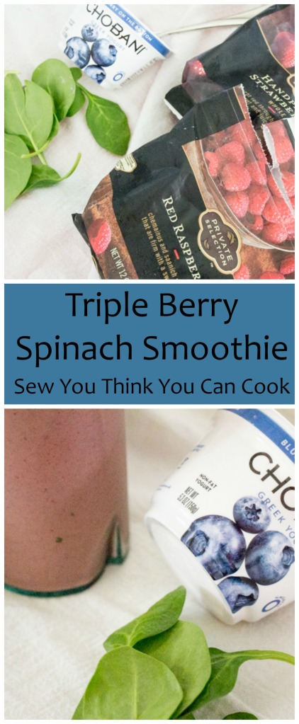 Triple Berry Spinach Smoothie  Sew You Think You Can Cook
