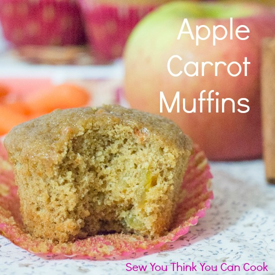 Apple Carrot Muffins for #MuffinMonday from Sew You Think You Can Cook (1)