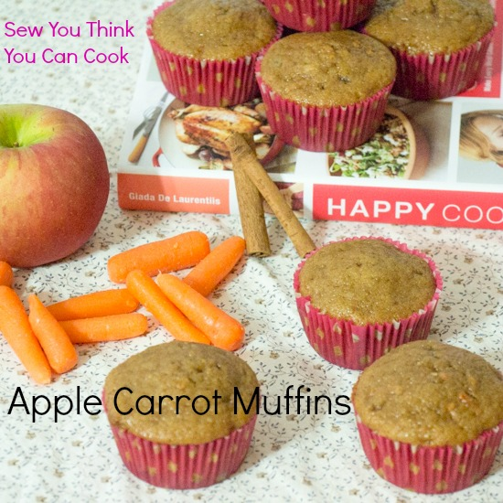 Apple Carrot Muffins for #MuffinMonday from Sew You Think You Can Cook (2)