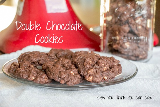 Double Chocolate Cookies for Secret Recipe Club from Sew You Think You Can Cook (1)