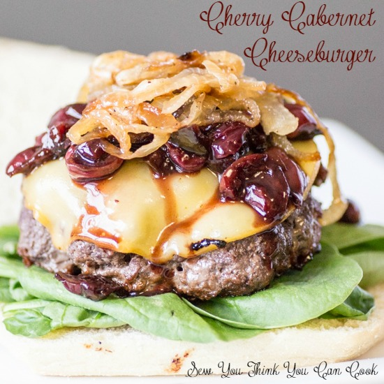 Cherry Cabernet Cheeseburger  Sew You Think You Can Cook
