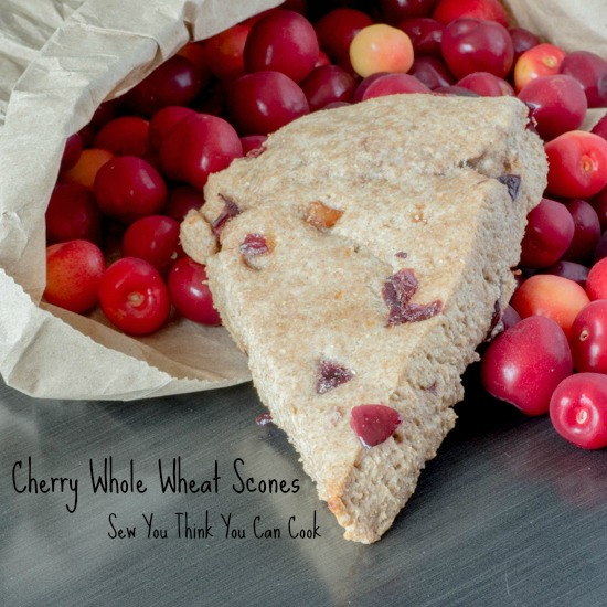 Cherry Whole Wheat Scones  Sew You Think You Can Cook