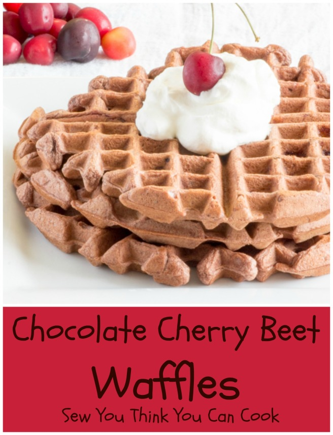 Chocolate Cherry Beet Waffles for #SundaySupper from Sew You Think You Can Cook