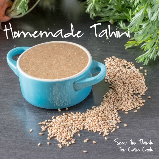 Homemade Tahini  Sew You Think You Can Cook