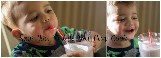 Strawberry Vanilla Smoothie for Secret Recipe Club from Sew You Think You Can Cook (kid approved)