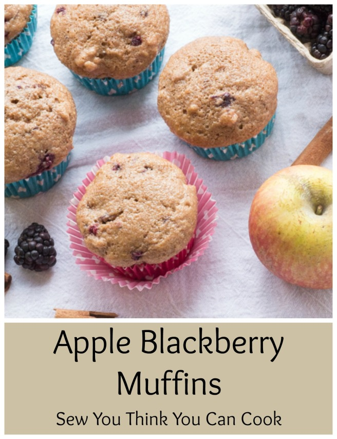 Apple Blackberry Muffins for #MuffinMonday from Sew You Think You Can Cook
