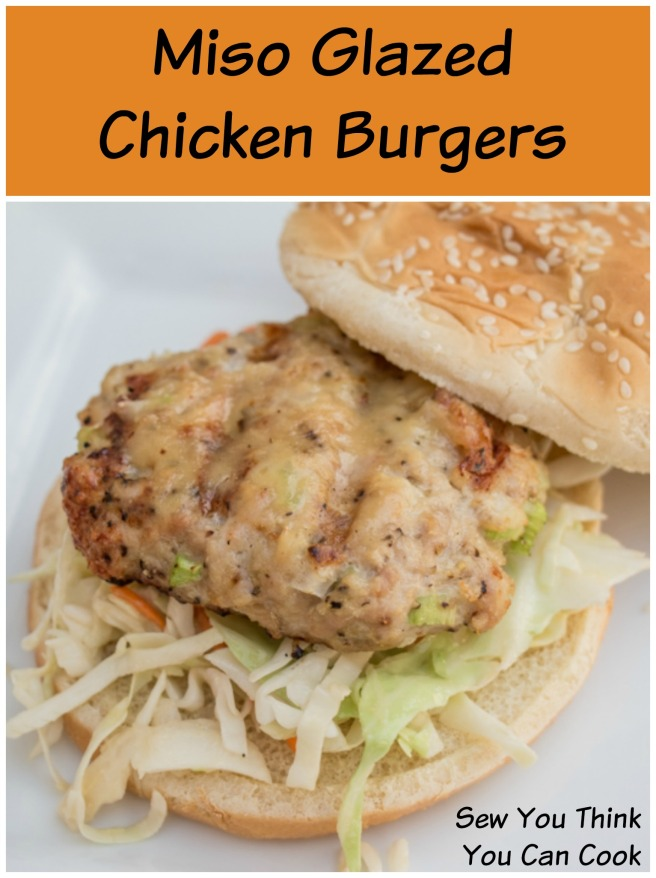 Miso Glazed Chicken Burgers for #SundaySupper from Sew You Think You Can Cook