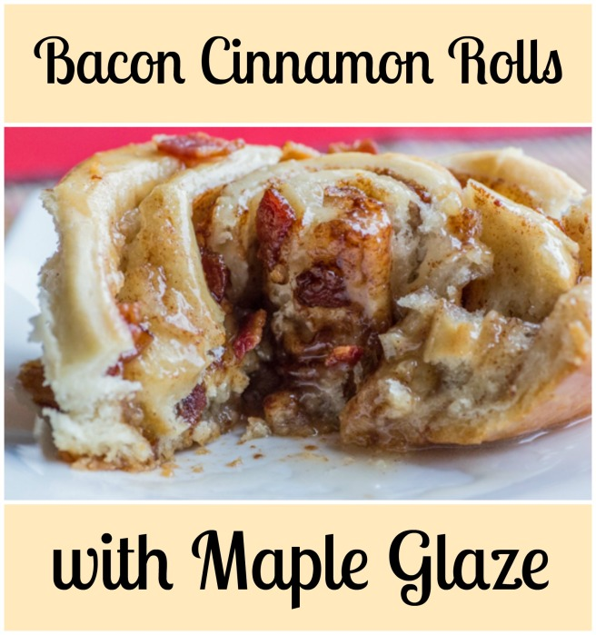 Bacon Cinnamon Rolls with Maple Glaze for #SundaySupper from Sew You Think You Can Cook
