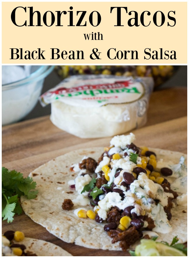 Chorizo Tacos with Corn & Black Bean Salsa  Sew You Think You Can Cook (1)