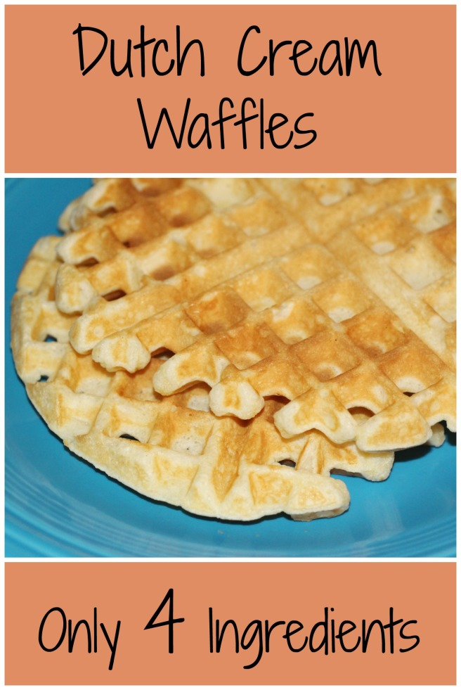 Dutch Cream Waffles: eggs, cream, flour, and salt | Sew You Think You Can Cook | sewyouthinkyoucancook.com