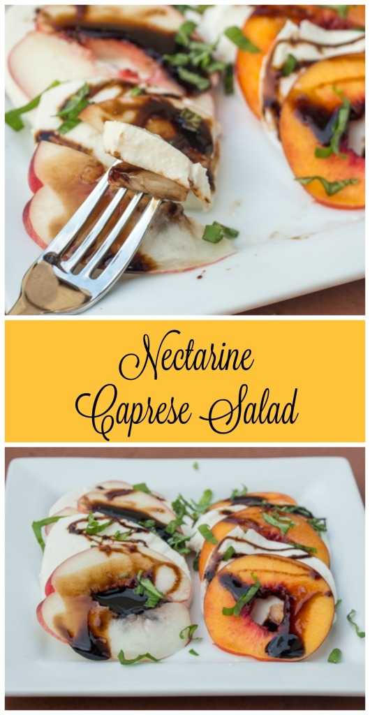 Nectarine Caprese Salad for #SecretRecipeClub from Sew You Think You Can Cook