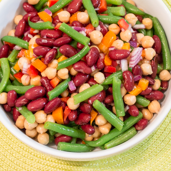 Three Bean Salad - Sew You Think You Can Cook