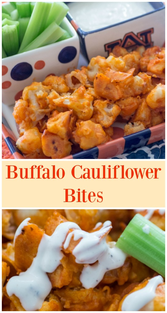 Buffalo Cauliflower Bites for #SundaySupper from Sew You Think You Can Cook