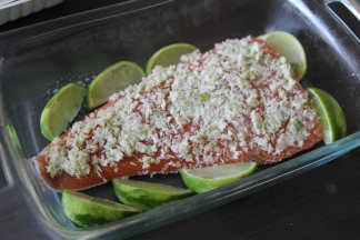 Lime Crusted Salmon (before) | Sew You Think You Can Cook | http://sewyouthinkyoucancook.com