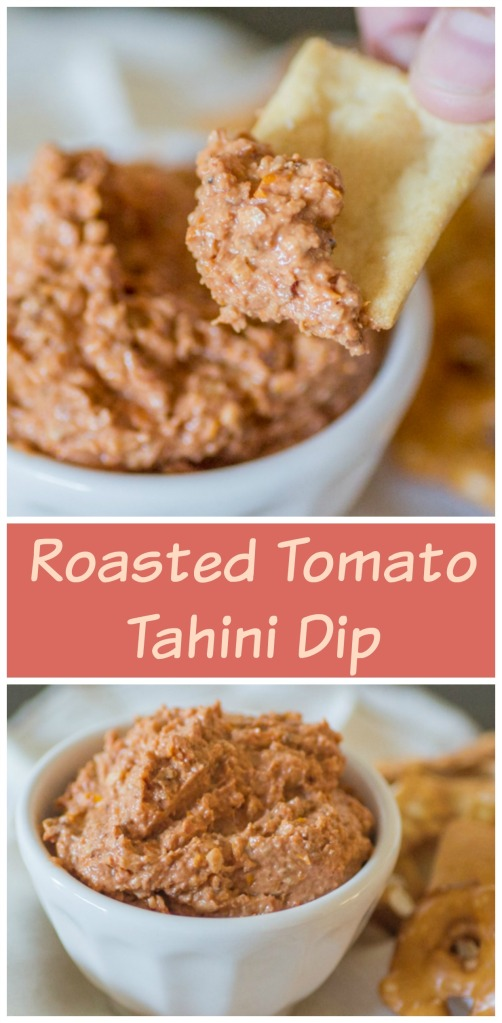 Roasted Tomato Tahini Dip | Sew You Think You Can Cook | http://sewyouthinkyoucancook.com