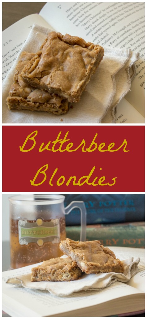 Butterbeer Blondies | Sew You Think You Can Cook | http://sewyouthinkyoucancook.com