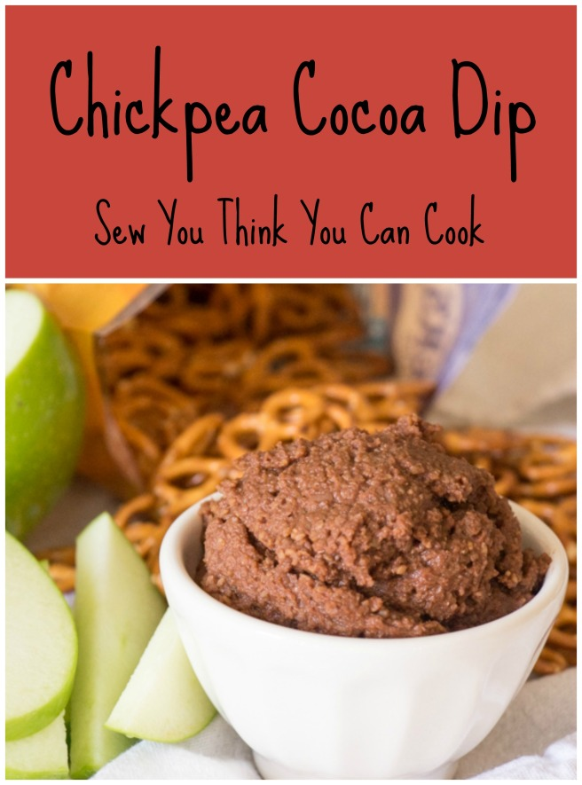 Chickpea Cocoa Dip for #ChoctoberFest from Sew You Think You Can Cook