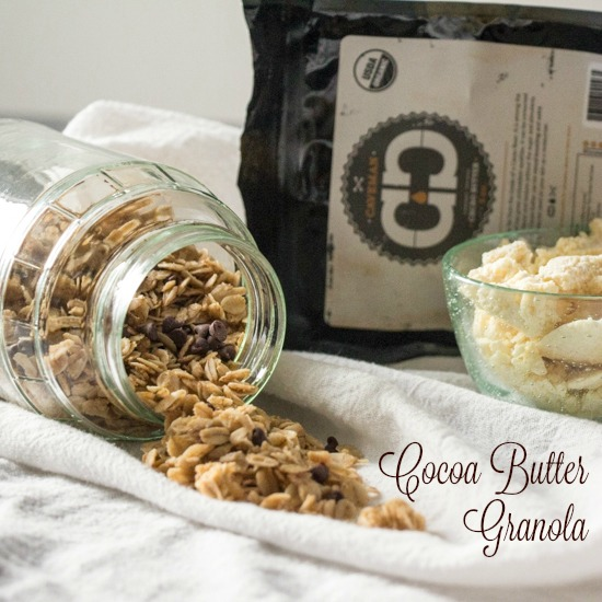 Cocoa Butter Granola featuring Caveman Coffee Cocoa Butter for #Choctoberfest from Sew You Think You Can Cook