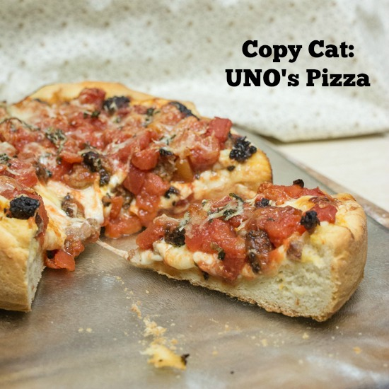 Copy Cat: UNO's Pizza for #SundaySupper from Sew You Think You Can Cook