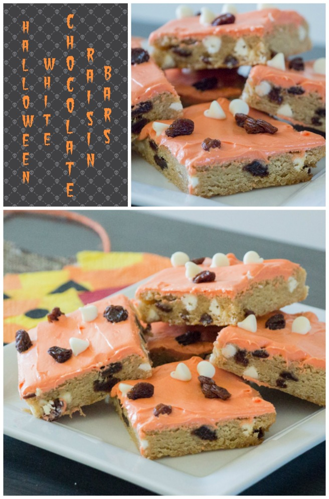 Halloween White Chocolate Raisin Bars for #ChoctoberFest from Sew You Think You Can Cook