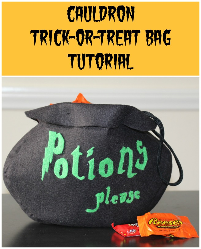 Cauldron Trick-or-Treat Bag Tutorial | Sew You Think You Can Cook | http://sewyouthinkyoucancook.com